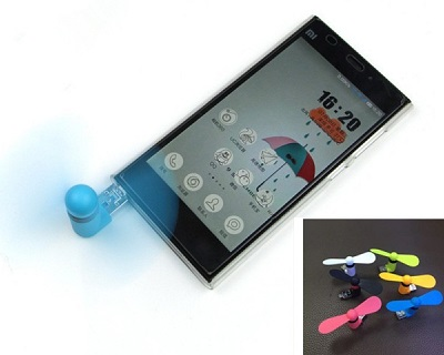 2-In-1 Portable Mini Micro USB Mobile Phone Fan