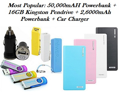 Most Popular: 50,000mAH Powerbank + 3 FREE GIFTS