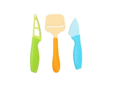 Multi-colored Cheese Knives in 3 Set