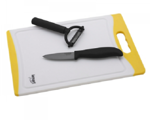 LAMART set of Knife, Peeler & Cutting Board