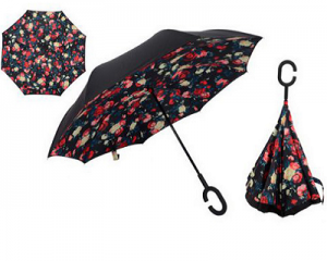 Windproof Reverse Folding Double Layer Umbrella