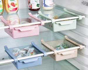 4-Pack Space-Saving Fridge Storage Rack