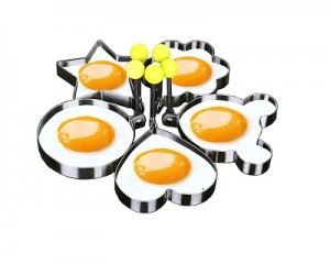 Set of 5 Stainless Steel Omelette Mold