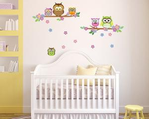 Walplus Owl Wall Stickers