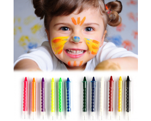 6 Colors Face Painting Crayon Pencils