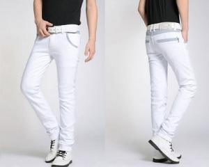 Men Fashion Long Slim Fit Jeans Pants