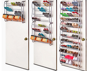 Over-The-Door Shoe Rack for 4,8 or 12 Tier
