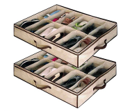 12-Pair Under Bed Shoe Organisers
