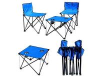 Foldable & Portable Table and 4-Chair Set