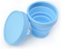 Set of 4 Foldable Travel Silicone Cup