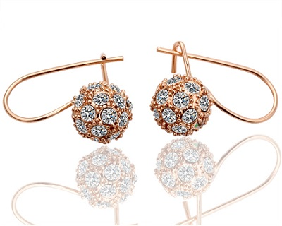 Elegant 18K Gold Plated Ball Earrings