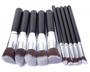 10pc Kabuki Make-up Brush Set