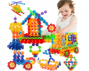 550pcs Kids' Snowflake Building Blocks Toy