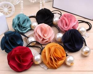 Korean 3PCS Pretty Rose Pearl Hair Band